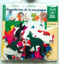 150 gommettes autocollantes pour découvrir les animaux de la montagne : 10 éléments, 10 couleurs