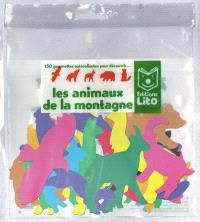 150 gommettes autocollantes pour découvrir les animaux de la montagne (sans support)