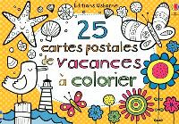 25 cartes postales de vacances à colorier