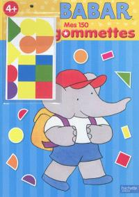 Babar, mes 150 gommettes, 4+
