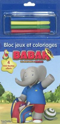 Bloc jeux et coloriages Babar