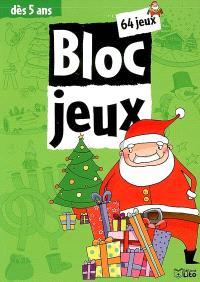 Bloc-jeux Noël : 64 jeux, dès 5 ans