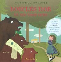 Boucle d'or et les trois ours : une histoire à raconter et à décorer avec des gommettes, des découpages et des coloriages !