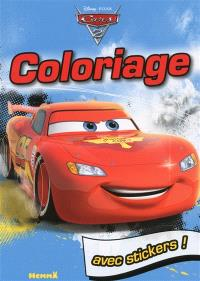 Cars 2 : coloriage : avec stickers !
