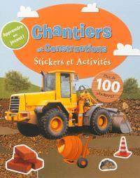 Chantiers et constructions : stickers et activités