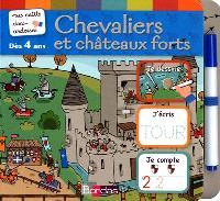 Chevaliers et châteaux forts : je dessine, j'écris, je compte