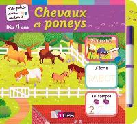 Chevaux et poneys : je dessine, j'écris, je compte