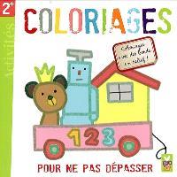 Coloriages : pour ne pas dépasser, coloriages avec des bords en relief ! : activités 2+