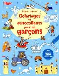 Coloriages et autocollants pour les garçons