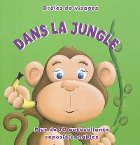 Dans la jungle : plus de 70 autocollants repositionnables