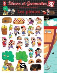 Décors et gommettes 3D : les pirates