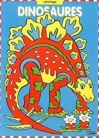 Dinosaures : coloriage bleu
