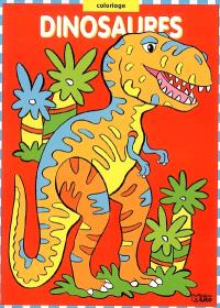 Dinosaures : coloriage rouge