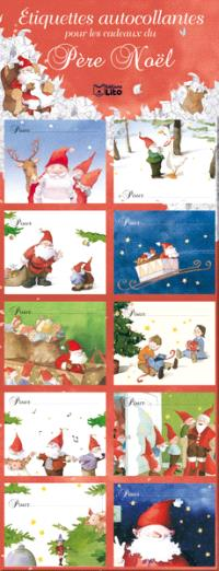 Etiquettes autocollantes pour les cadeaux du père Noël : rouges