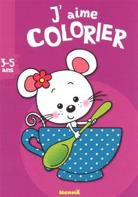 J'aime colorier, 3-5 ans : souris