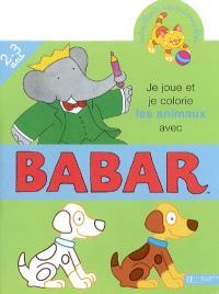Je joue et je colorie les animaux avec Babar, 2-3 ans