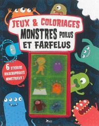 Jeux et coloriages : monstres poilus et farfelus