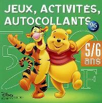 Jeux, activités et autocollants, 5-6 ans : Winnie l'ourson