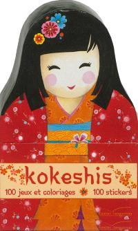 Kokeshis : 100 jeux et coloriages, 100 stickers