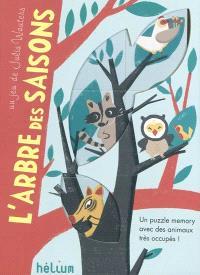 L'arbre des saisons : un puzzle memory avec des animaux très occupés