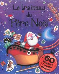 Le traîneau du Père Noël : 60 stickers + 1 masque de renne
