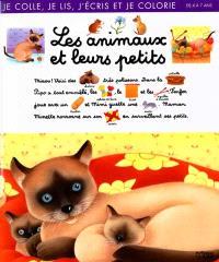 Les animaux et leurs petits : je colle, je lis, j'écris et je colorie : de 4 à 7 ans