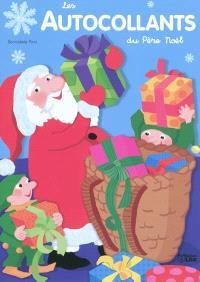 Les autocollants du Père Noël : bleu