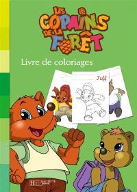 Les copains de la forêt : livre de coloriage