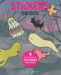 Les stickers de Bonbek : 4 planches de stickers monstrueux