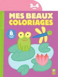 Mes beaux coloriages 3-4 ans : la grenouille