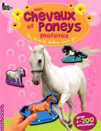 Mes chevaux et poneys préférés : un livre de stickers super fun !