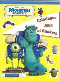 Monstres Academy : coloriages, jeux et stickers