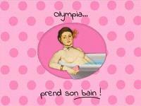 Olympia... prend son bain !