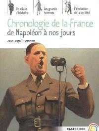 Chronologie de la France de Napoléon à nos jours