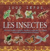 Les insectes : fourmis, abeilles et guêpes, papillons, sauterelles, et criquets, anatomie, comportements et habitats