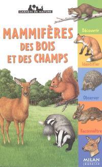 Mammifères des bois et des champs