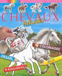 Les chevaux : activités, dessin, coloriages, jeux + autocollants
