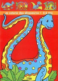 Je colorie des dinosaures et j'apprends leurs noms !