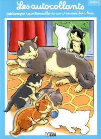 Les autocollants prédécoupés repositionnables de nos animaux familiers : chats