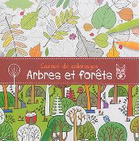 Carnet de coloriages : arbres et forêts