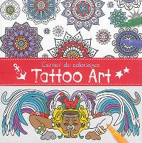 Carnet de coloriages : tattoo art