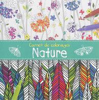 Carnet de coloriages : nature