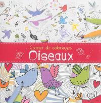 Carnet de coloriages : oiseaux