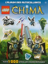 Lego Legends of Chima, L'album des autocollants : plus de 1.000 autocollants couleurs réutilisables