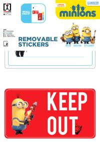 Minions : keep out : stickers