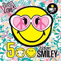 Peace & love : 500 stickers smiley