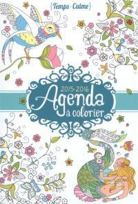 Agenda à colorier : 2015-2016