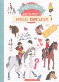 Mon carnet d'autocollants spécial équitation