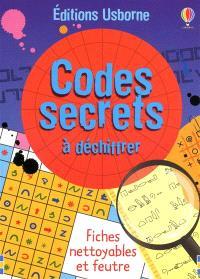 Codes secrets à déchiffrer : fiches nettoyables et feutre