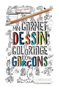 Mini-carnet de dessin et de coloriage 100 % garçons